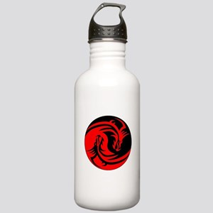 Red And Black Yin Yang Dragons Sports Water Bottle